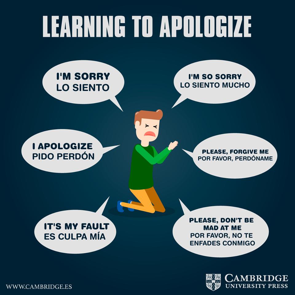 Formas de pedir perdón en inglés - Blog Cambridge