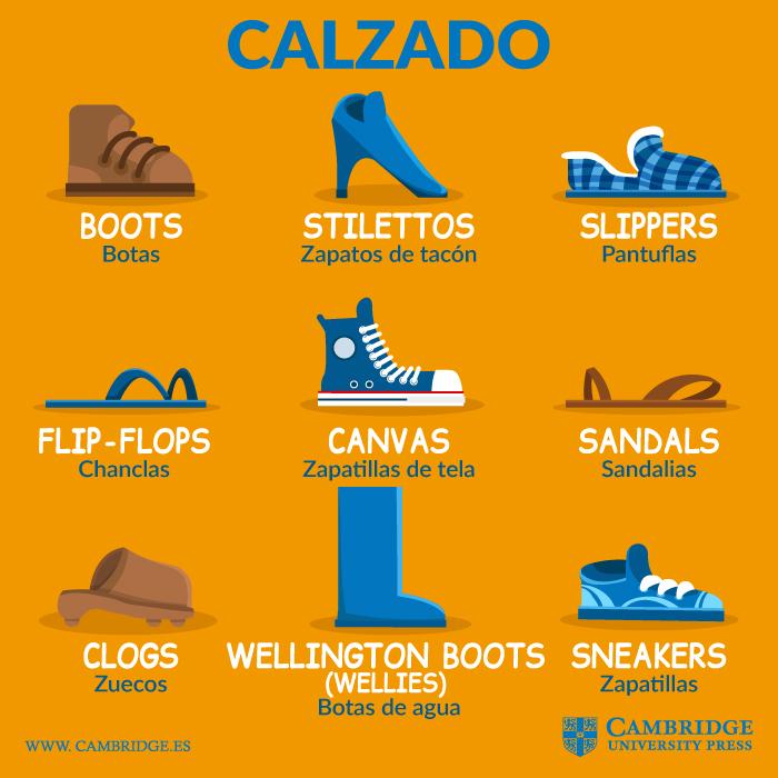 Tipos de calzado en inglés Blog Cambridge